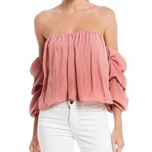 Off the Shoulder Gathered sleeve blouse - Size L
